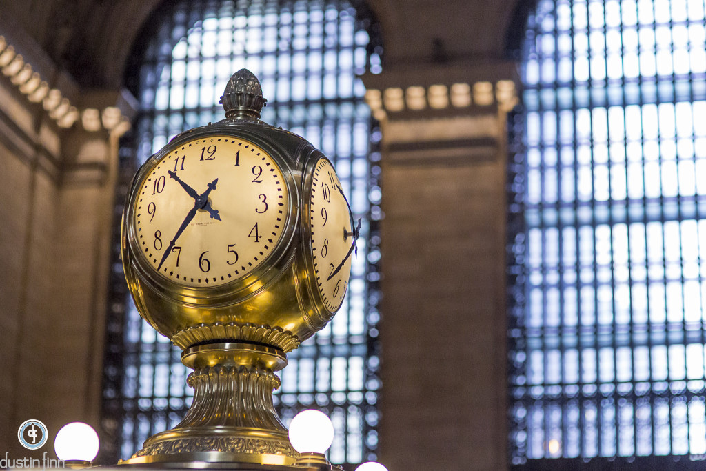 Clock in Grand Central Terminal with 4 opal faces.