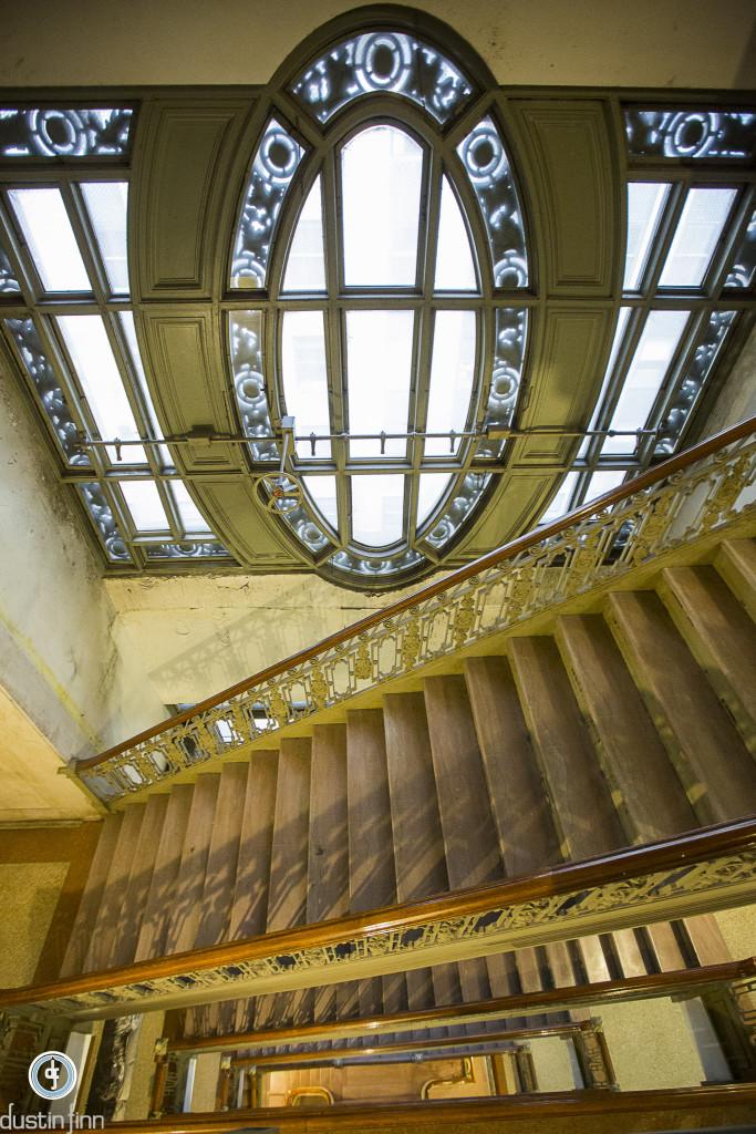 Stairway to employee floors